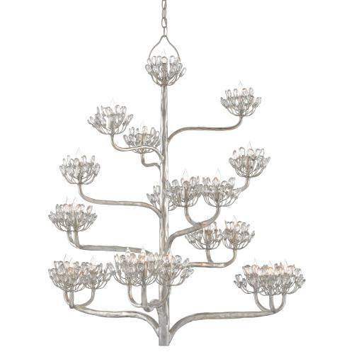 Agave Americana Silver Chandelier
