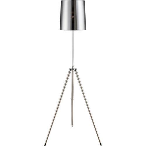 Floor Lamp, Chrome/silv Finished Mylar Shade, E27 Cfl 23w