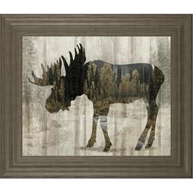 """Camouflage Animals- Moose"" By Tania Bello Framed Print Wall Art"