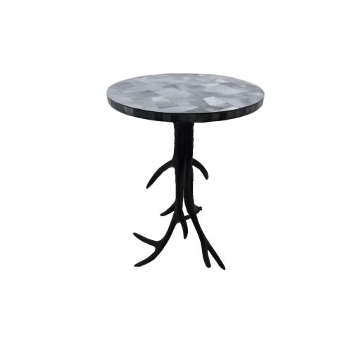 Antelope Metal Antler Accent Table