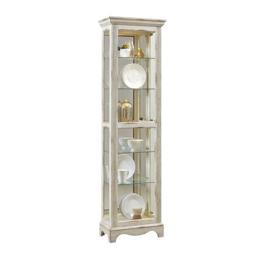 Pulaski Furniture - Side Entry 5 Shelf Curio Cabinet in Weathered White