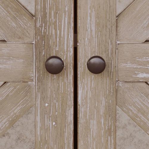 Antique Mirror Two Door Accent Storage Chest