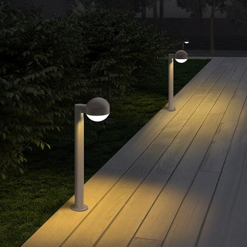 """Sonneman - A Way of Light - REALS® LED Bollard [Size=28"""", Color/Finish=Textured Gray, Lens Type=Dome Cap and White Cylinder Lens]"""