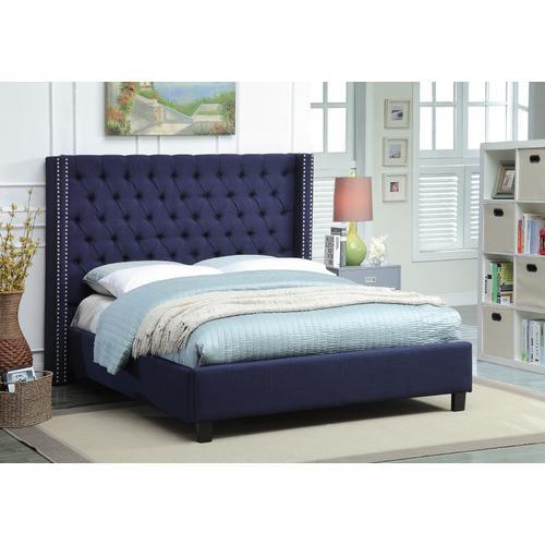"""Ashton Linen Bed - 66"""" W x 81"""" D x 56"""" H"""