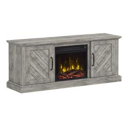 """Belcrest TV Stand for TVs up to 60"""" with Electric Fireplace, Valley Pine"""