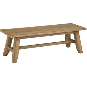 Ember Grove Wood Seat Dining Bench