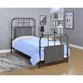 Cheriton Bed - Twin, Antique Black Finish