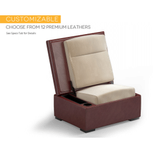 JumpSeat Ottoman, Premium Leather