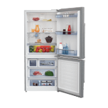 "Beko 30"" Freezer Bottom Stainless Steel Refrigerator with Auto Ice Maker"