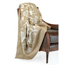 White Floral Motif Throw