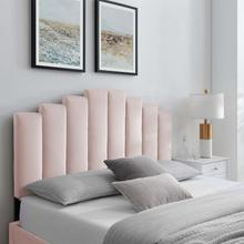 Noelle Performance Velvet King/California King Headboard in Pink