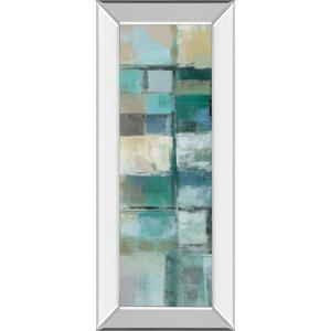 """Island Hues Panel 1"" By Silvia Vassileva Mirror Framed Print Wall Art"
