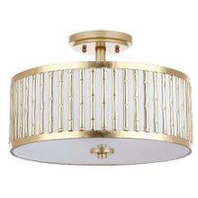 Pierce 3 Light 15.25-INCH Dia Gold Flush Mount - Gold