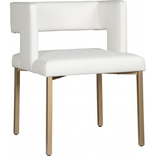 """Caleb Faux Leather Dining Chair - 23"""" W x 21"""" D x 30"""" H"""