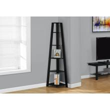 "BOOKCASE - 72""H / BLACK CORNER ACCENT ETAGERE"