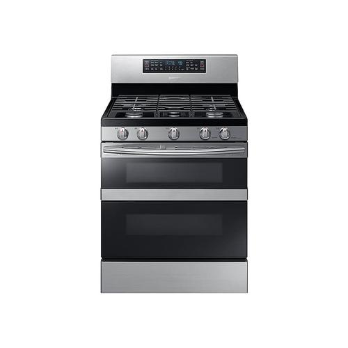 5.8 cu. ft. Freestanding Gas Range with Flex Duo™ & Dual Door in Stainless Steel
