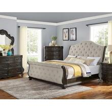 Rhapsody Sleigh 4-Piece Queen Set(Q Bed/NS/Dresser/Mir)