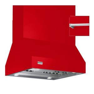 """Viking - 66"""" Wide Island Hood, Chrome Accessory Rail on front, back and both sides"""