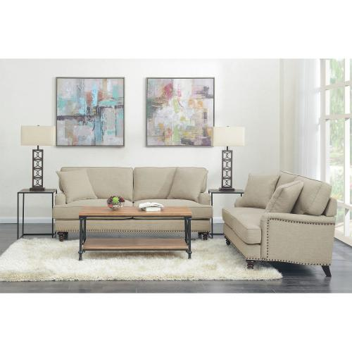Abby Loveseat W/Pillows in Heirloom Natural / Linen