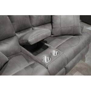 Power Headrest w/Lumbar Pwr Lay Flat Reclining Loveseat