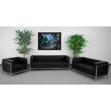See Details - HERCULES Imagination Series Black LeatherSoft 3 Piece Sofa Set