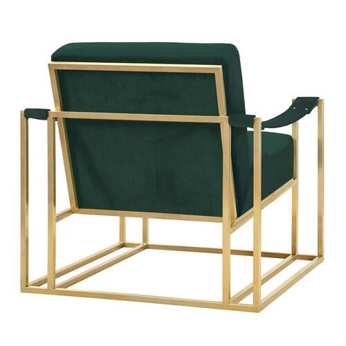 Baxter Forest Green Velvet Chair