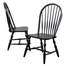 Windsor Spindleback Dining Chair, Antique Black (Set of 2)
