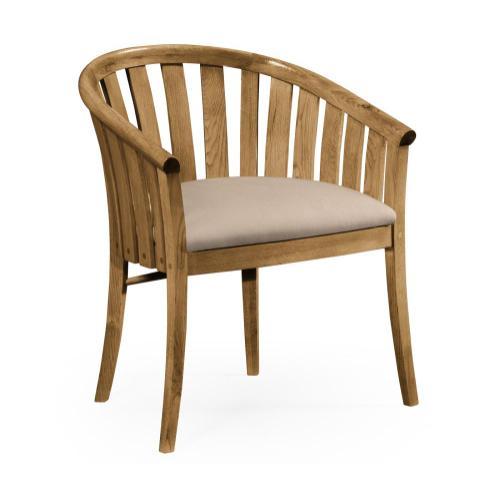 Light Oak Tub Chair