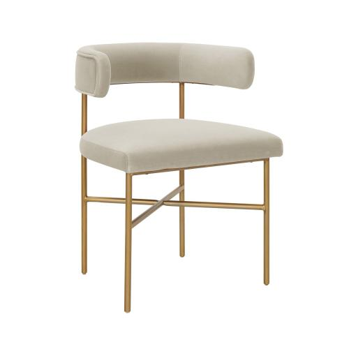 Product Image - Kim Performance Velvet Chair in Cream