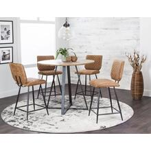"CR-ND518 Collection  42"" Round Pub Table Set  4 Stools  Counter Height Dining"