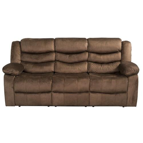 Ridgecrest Manual Motion Reclining Sofa, Brown