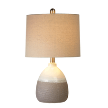 Ivory & Taupe with Embossed Diamond Pattern Accent Lamp with Bulb. 60W Max.(163180) (2 pc. assortment)