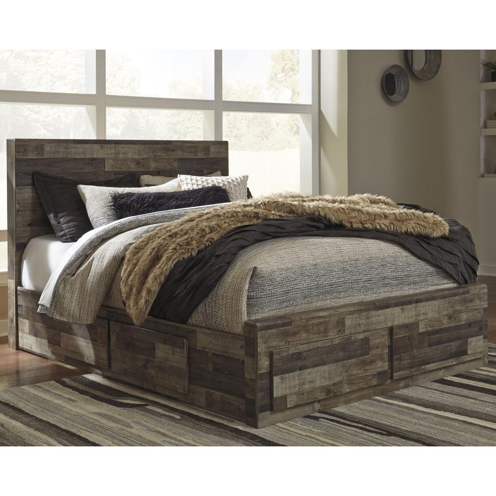 Derekson Queen Panel Bed With 4 Storage Drawers