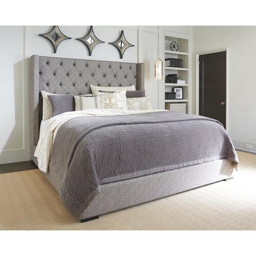 Sorinella California King Upholstered Bed With 1 Large Storage Drawer