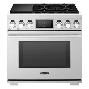 Signature Kitchen Suite36-inch Dual-Fuel Pro Range with Steam-Combi Oven and Sous Vide