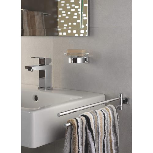 Product Image - Essentials Cube Holder for Glass, Soap Dish or Soap Dispenser