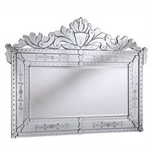 Venetian 59 in. Transitional Mirror in Clear