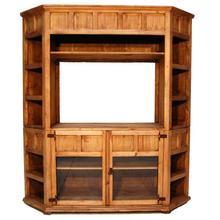 See Details - Large Corner T V Bookcase