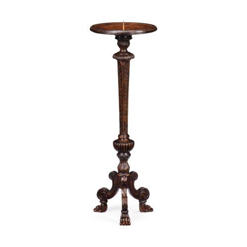 Baroque Tudor Oak Candlestand