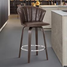 "Connie 30"" Modern Brown Faux Leather Bar Stool"