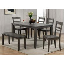 DLU-EL3660-C200-BN6PC  6 Piece Dining Set  Gray