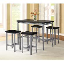 7847 5PC Metal Counter Height SET