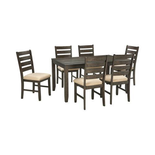 Rokane Dining Room Table Set (7/CN) Brown
