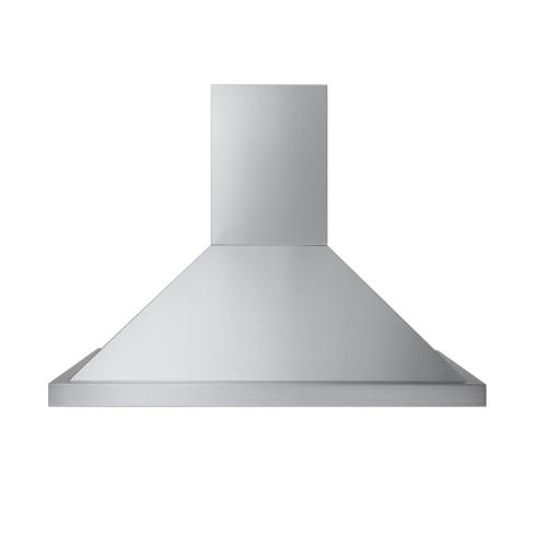 "Stainless Steel 45"" Wide Classic Chimney with Ledge Wall Hood - DCWL (45"" width)"