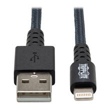 Heavy-Duty USB-A to Lightning Sync/Charge Cable, UHMWPE and Aramid Fibers, MFi Certified - 3 ft.
