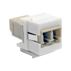 Duplex Multimode Fiber Coupler, Keystone Jack - LC to LC, White