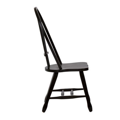 Gallery - Sheaf Back Side Chair - Black