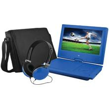 "9"" Portable DVD Player Bundles (Blue)"