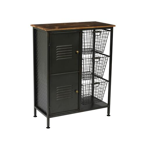 Manchester Accent Cabinet, Aged Metal