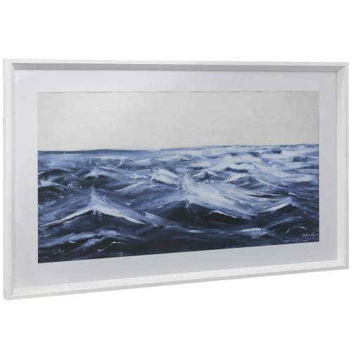 Style Craft - OFF SHORE  21in w X 35in ht  Framed Print Under Glass with Matte